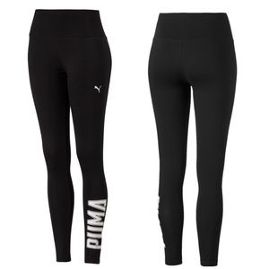 NWT PUMA Spell Out Cotton Compression Legging LRG